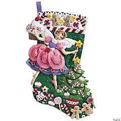 Stocking Applique Kit-Sugar Plum Fairy