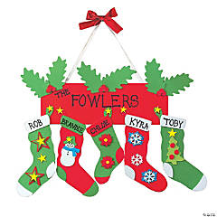 Stocking Door Hanger Christmas Craft Kit