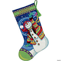 Stocking Needlepoint Kit-Happy Snowman