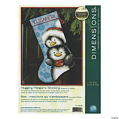 Stocking Needlepoint Kit-Hugging Penguin