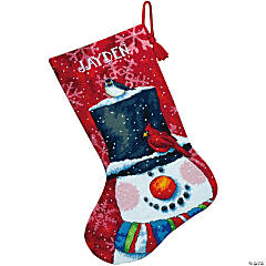 Stocking Needlepoint Kit-Snowman & Friend