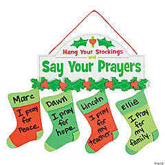 Stocking Prayer Sign Craft Kit