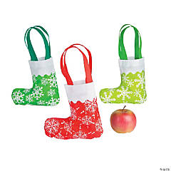 Stocking-Shaped Tote Bag