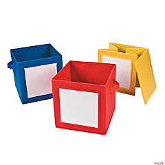 Storage Totes with Dry Erase Labels