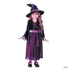 Storybook Witch Velvet Toddler Girl's Costume