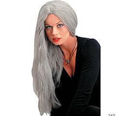 Straight Grey Wig