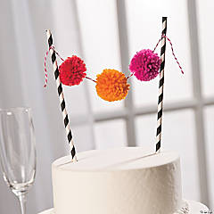 Straw Banner Wedding Cake Topper Idea