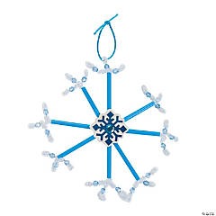 Straw Snowflake Ornament Craft Kit