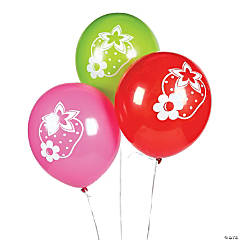 Strawberry Party Latex Balloons