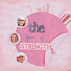 Strength Breast Cancer Awareness Scrapbook Page Idea