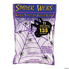 Stretchy White Spider Webs