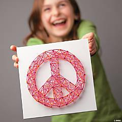 String Art Kit: Peace, Hi & Heart