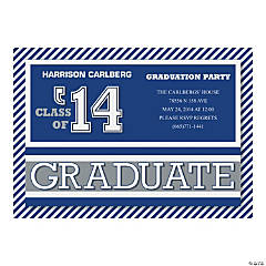 Striped Graduation Personalized Invitations