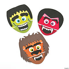 Striped Halloween Character Magnet Craft Kit