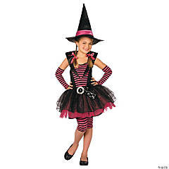 Stripey Witch Girl's Costume
