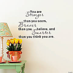 Stronger, Braver, Smarter Wall Decals