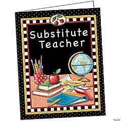 Substitute Teacher Pocket Folder from Mary Engelbreit, Pack of 10 folders