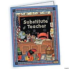 Substitute Teacher Pocket Folder from Susan Winget, Pack of 10 folders