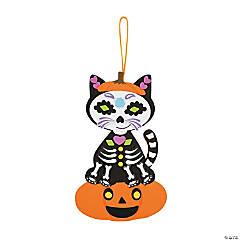 Sugar Skull Cat Halloween Craft Kit