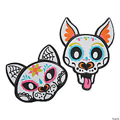 Sugar Skull Dog & Cat Magnet Kit