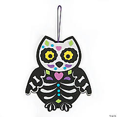 Sugar Skull Owl Door Hanger Craft Kit