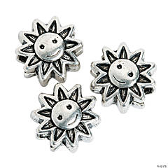 Sun Large Hole Beads - 13mm