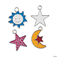 Sun, Moon & Star Enamel Charm Assortment