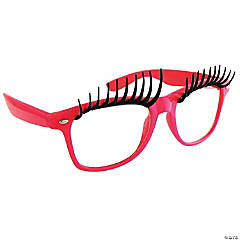 Sun-Stache Pink Glasses with Eyelashes
