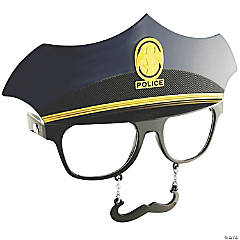 Sun-Stache Police Glasses