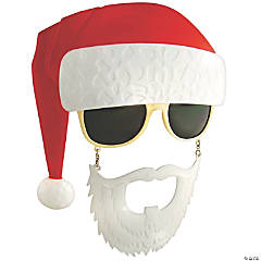 Sun-Stache Santa Glasses with Beard