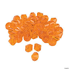 Sunset Orange Crystal Bicone Beads - 8mm