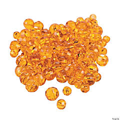 Sunset Orange Cut Crystal Round Beads - 4mm-6mm