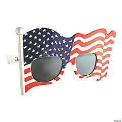 Sunstache American Flag Sunglasses