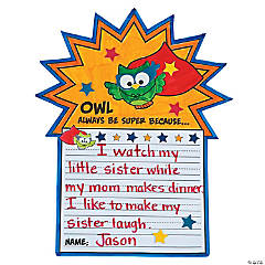 "Super Owl ""All About Me"" Writing Prompt Craft Kit"