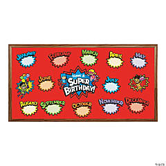Superhero Birthday Mini Bulletin Board Set