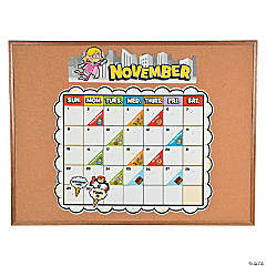 Superhero Bulletin Board Calendar