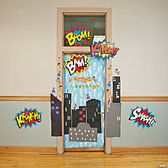 Superhero Door Decoration Idea