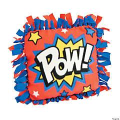 Superhero Fleece Tied Pillow Craft Kit