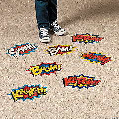 Superhero Floor Decals