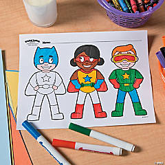Superhero Free Printable Coloring Page Idea