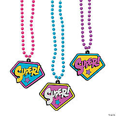 Superhero Girl Bead Necklaces