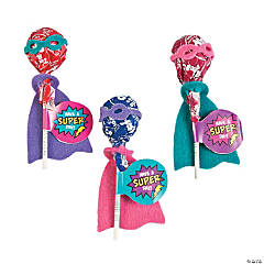 Superhero Girl Lollipop Craft Kit