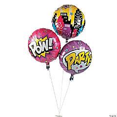 Superhero Girl Mylar Balloons