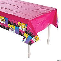 Superhero Girl Plastic Tablecloth