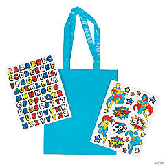 Superhero Laminated Tote Bag Craft Kit
