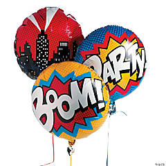 Superhero Mylar Balloons