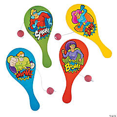 Superhero Paddle Ball Games