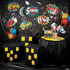Superhero Photo Booth Backdrop Idea