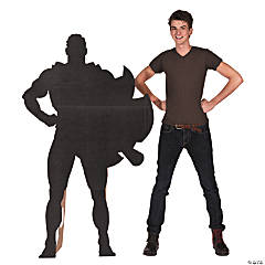 Superhero Silhouette Cardboard Stand-Up
