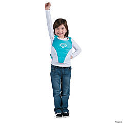 Superhero Teal & White Chest Plate Costume